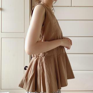 フラワー(flower)のcamel blouse (カットソー(半袖/袖なし))