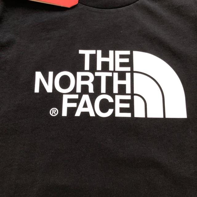 THE NORTH FACE(ザノースフェイス)の【海外限定】TNF ノースフェイス キッズ ロゴTシャツ ブラック 160cm キッズ/ベビー/マタニティのキッズ服男の子用(90cm~)(Tシャツ/カットソー)の商品写真