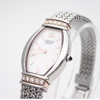 SEIKO - 【SEIKO】セイコー腕時計 'クレドールシグノ' ピンクシェル☆ダイヤモンド☆