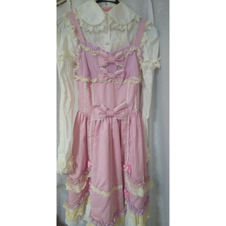 アンジェリックプリティー(Angelic Pretty)のAngelic Pretty ジャンパースカート、ブラウス、靴下(セット/コーデ)
