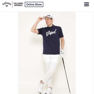 キャロウェイゴルフ(Callaway Golf)の【新品】キャロウェイ ハイネックシャツ モックネック 半袖 ポロシャツ 希少M(ウエア)