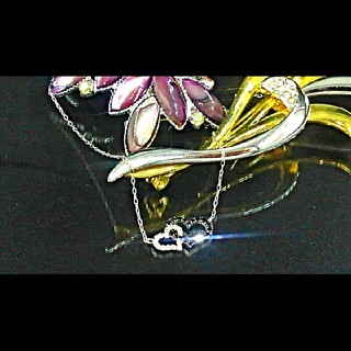 PEACH JOHN - K18 ダイヤモンド ネックレス