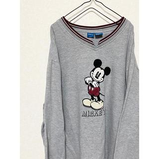 Disney - 【激レア!】 超希少 90s ミッキー キーネック 刺繍