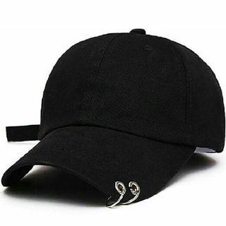 【この夏大人気】帽子 黒 韓国 韓流ヒップホップキャップがとても素敵♬♬(その他)