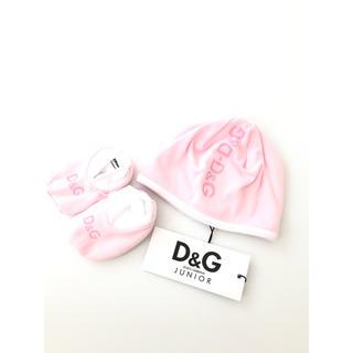 ドルチェアンドガッバーナ(DOLCE&GABBANA)の【新品】ドルチェアンドガッパーナ 帽子 ベビーシューズ セット 6-9M(帽子)