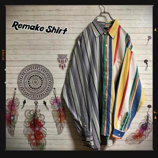 オールドギャップ OLDGAP インド製 リメイクシャツ 一点物 古着