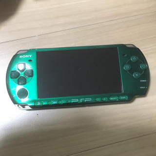 プレイステーションポータブル(PlayStation Portable)のPSP-3000 PSP3000 グリーン ジャンク扱い(携帯用ゲーム機本体)