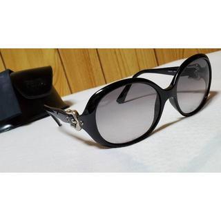 フェンディ(FENDI)の正規 フェンディ ベルトバックル装飾 ラウンドサングラス黒 クロームメタリック(サングラス/メガネ)
