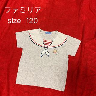 familiar - ファミリア だまし絵Tシャツ セーラー