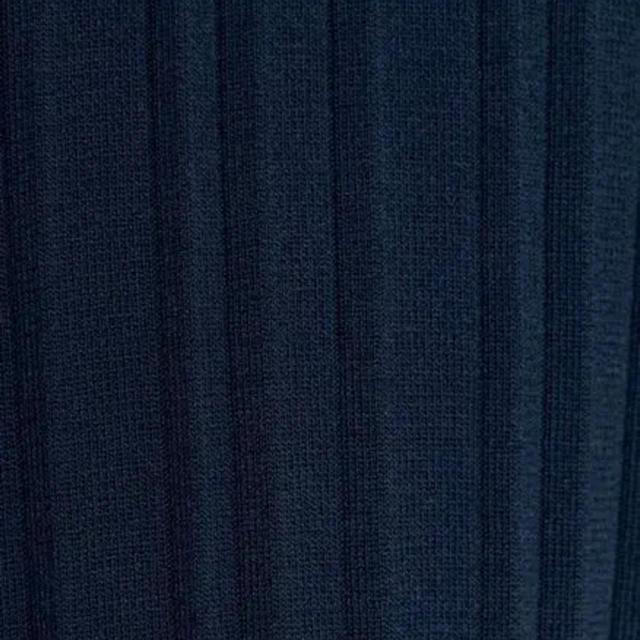新品  ZARA  ザラ  ネイビー  サマーニットワンピース  大草直子着用 レディースのワンピース(ロングワンピース/マキシワンピース)の商品写真