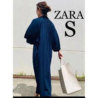 新品  ZARA  ザラ  ネイビー  サマーニットワンピース  大草直子着用