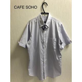 アオキ(AOKI)のCAFE SOHO Yシャツ 半袖 Mサイズ パープル(シャツ)
