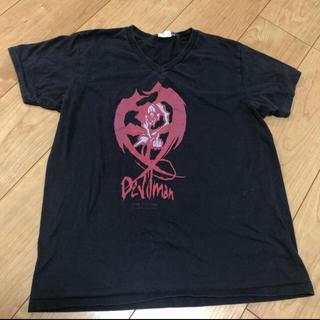 ハードコアチョコレート(HARDCORE CHOCOLATE)のデビルマン VネックTシャツ 黒 (Tシャツ/カットソー(半袖/袖なし))