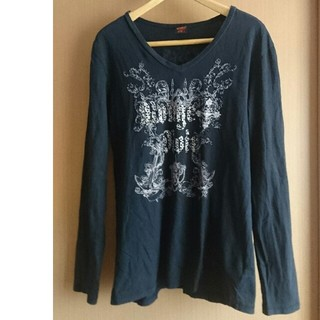 キスマーク(kissmark)のキスマーク  メンズ Vネック 長T  size O(Tシャツ/カットソー(七分/長袖))