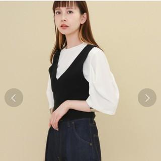 ケービーエフ(KBF)のKBFタックスリーブT カットソー(Tシャツ(半袖/袖なし))