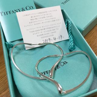Tiffany & Co. - オープン ハート フープ ピアス Mサイズ(シルバー)