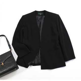 PRIMERO★大きいサイズ 13BR(XL) ノーカラージャケット 喪服 礼服(礼服/喪服)