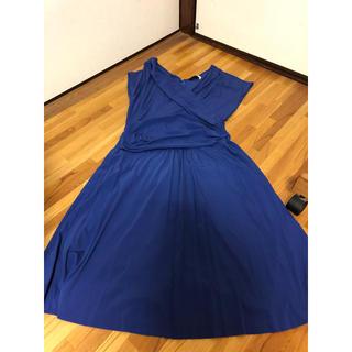 アイシービー(ICB)のICB ワンピース ドレス カシュクール 青 S(ひざ丈ワンピース)