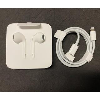 アップル(Apple)のApple earphone & Lightning code 新品未使用(ヘッドフォン/イヤフォン)