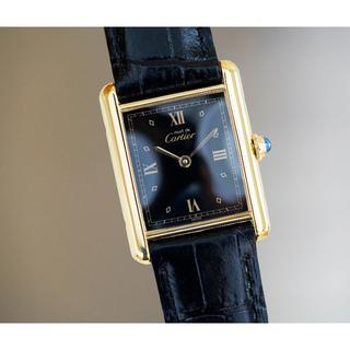 Cartier - 美品 カルティエ マスト タンク ブラック ローマン LM Cartier
