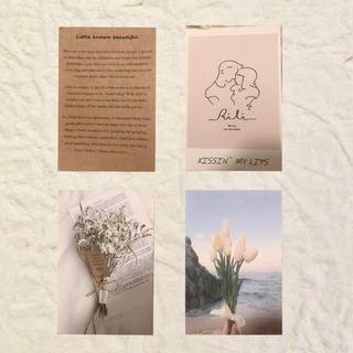 ●4枚セット●韓国インテリアポストカード