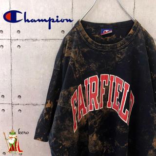 Champion - 【激レア】90s チャンピオン Tシャツ ブリーチ加工 カレッジ