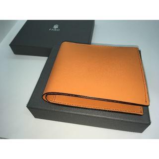 【未使用】ファーロ 二つ折り財布 オレンジ 定価39600円(折り財布)