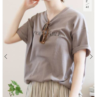 IENA - IENA FORMIDABLEロゴプリントTシャツ