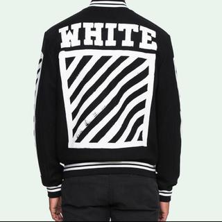 OFF-WHITE - OFF WHITE ヴァーシティ ジャケット ブルゾン オフホワイト Black