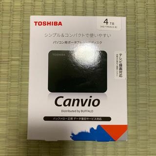 トウシバ(東芝)の新品 東芝 HD-TPA4U3-B ポータブルHDD ブラック 4TB(PC周辺機器)