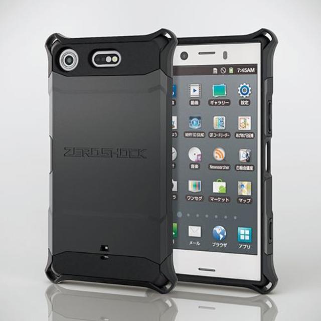 ELECOM(エレコム)のXperia XZ1 Compact (SO-02K)用衝撃吸収ケース ブラック スマホ/家電/カメラのスマホアクセサリー(Androidケース)の商品写真
