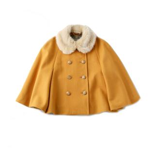 ジェーンマープル(JaneMarple)のジェーンマープル ファー付きケープジャケット ショートコート(ポンチョ)