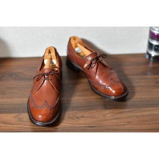 クロケットアンドジョーンズ(Crockett&Jones)のcrockett&jones 旧ロゴ SWANネーム 75B 23.5cm(ローファー/革靴)