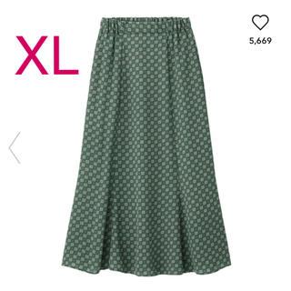 GU - GU プリントロングスカート XL