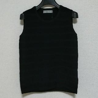 エムプルミエ(M-premier)のM-PREMIEパンチング刺繍ノースリーブニット(ニット/セーター)