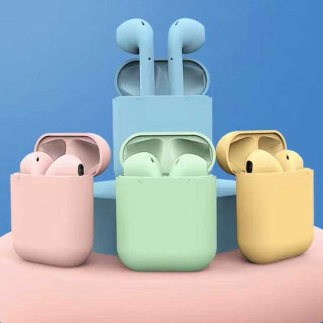 女子必見 パステル ワイヤレスイヤホン 可愛い 防水 Bluetooth スマホ/家電/カメラのオーディオ機器(ヘッドフォン/イヤフォン)の商品写真