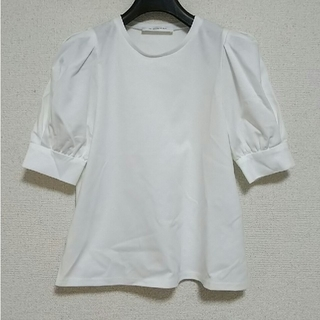 M-premier - M-PREMIEスーピマコットンパフスリーブカットソー/Tシャツ☆ホワイト