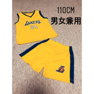 LAKERSキッズセットアップ イエロー110cm(Tシャツ/カットソー)