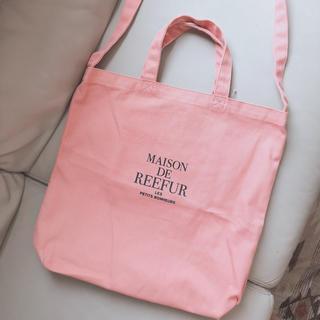 Maison de Reefur - MAISON DE REEFUR ピンク キャンバス トート バッグ♡