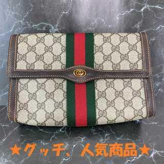 Gucci - ❤限定セール❤ 【グッチ】 クラッチバッグ GGスプリーム レザー オールド