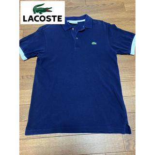 LACOSTE - 美品!日本製! ラコステ ポロシャツ 半袖シャツ メンズ ネイビー