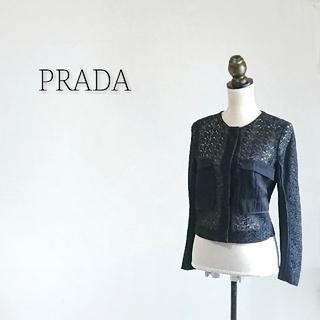 PRADA - PRADA プラダ カーディガン レディース ブラック
