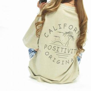 California カリフォルニア バックロゴ ビンテージ Tシャツ(Tシャツ/カットソー(半袖/袖なし))