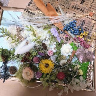 68番 大箱 花材セット ナチュラルテイスト♫ ドライフラワー(ドライフラワー)
