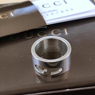 グッチ(Gucci)のGUCCIシルバーリング  Gロゴ。・:+°お値下げ(リング(指輪))