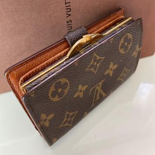 LOUIS VUITTON - 正規品ルイヴィトンがま口 折財布 モノグラム