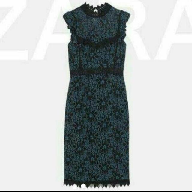 ZARA(ザラ)のZARAのレースワンピースSサイズ レディースのワンピース(ロングワンピース/マキシワンピース)の商品写真
