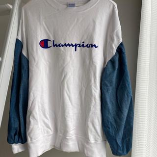 Champion - リメイク古着 デニムスウェット champion
