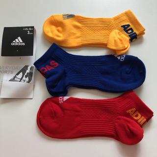 アディダス(adidas)のadidas メンズショートソックス24〜26cm 3足(ソックス)
