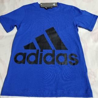 アディダス(adidas)のadidas アディダス 150cm ロゴ入り半袖Tシャツ 新品未使用品 青(Tシャツ/カットソー)
